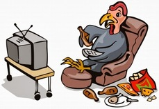 Picture of Turkey watching tv
